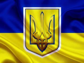 обои для рабочего стола: Украинский штандарт с трезубцем