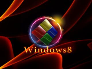 обои Объемная эмблема Windows 8 фото