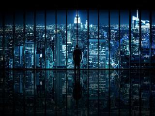 обои Взгляд на ночной мегаполис фото