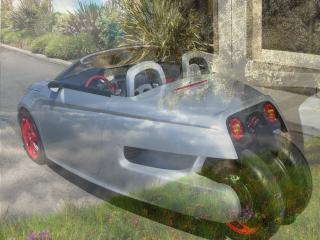 обои Машина будущего - на фоне пейзажа весны фото