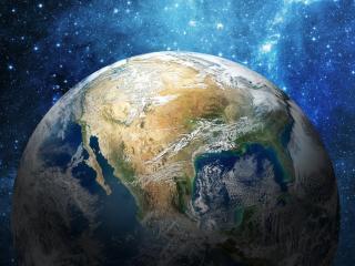 обои Красавица Земля в космосе фото