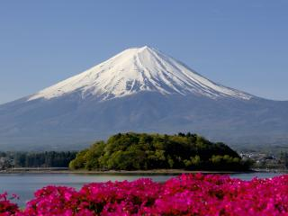 обои Снежная вершина Фудзи фото