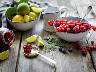 обои Ягоды фрукты и ягодный джем фото