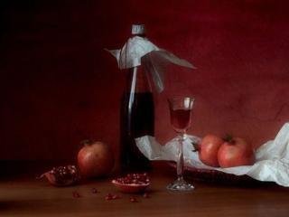 обои Натюрморт - Гранатовое вино фото