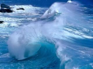 обои Голубая волна фото