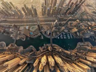 обои Дубаи,   вид сверху фото