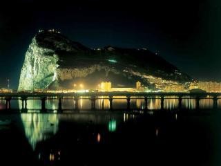 обои Ночной Гибралтар фото