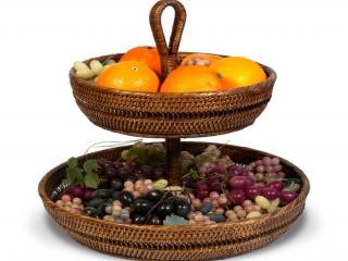 обои Плетёная ваза с фруктами фото