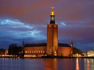 обои Утро в Стокгольме фото