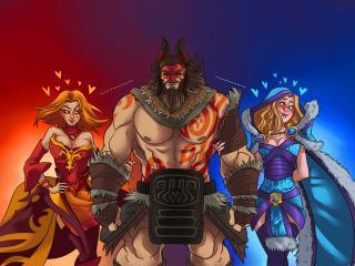 обои Рисованные герои игры Dota фото