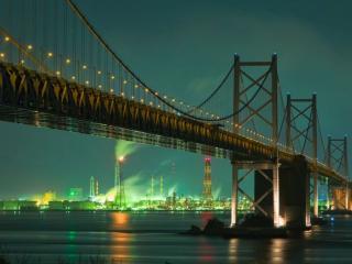 обои Мост между островами Йошима и Шикоку,   Внутреннее Японское море фото