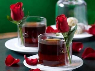 обои Чай и розы фото