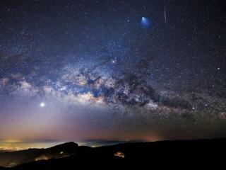 обои Звездное ночное небо фото
