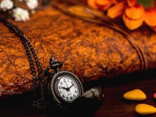 обои Часы на цепочке и три камушка фото