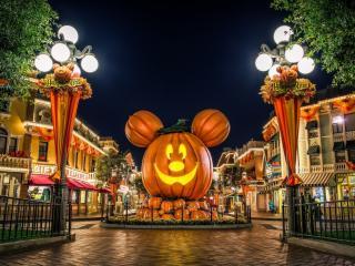 обои Главная площадь Хеллоуина фото