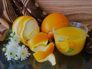 обои Апельсины,   сок и хризантемы фото