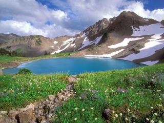 обои Горы и озеро. Национальный парк. Вашингтон фото