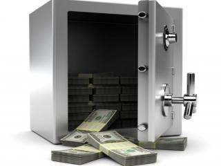 обои Деньги в сейфе фото