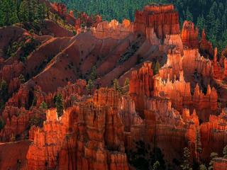обои Красные горы. Национальный парк Брайс-Каньон фото