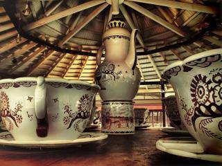 обои Национальный чайный сервиз фото