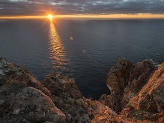 обои Восход солнца над Байкалом фото