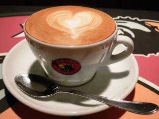 обои Чашка кофе с рисунком фото