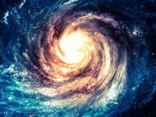 обои Великая галактика с огромным солнцем фото