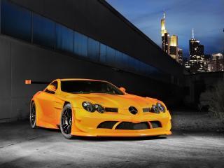 обои Оранжевый Mercedes-Benz 722 McLaren фото