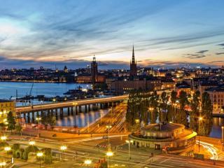 обои Стокгольмский рассвет. Швеция фото