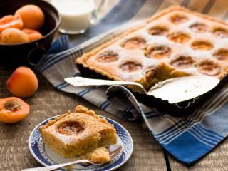 обои Персики и персиковый пирог фото