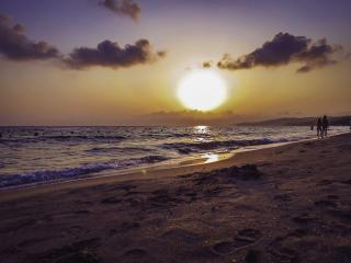 обои Тёплый вечер на море фото