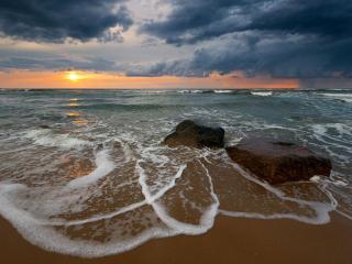 обои Утро на Балтийском море фото