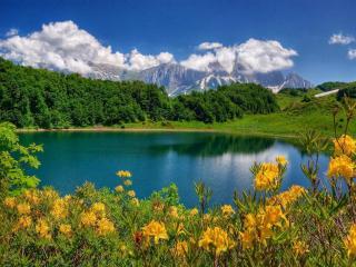 обои Фишт на фоне озера Хуко фото