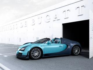 обои Bugatti Veyron выезд с бокса фото