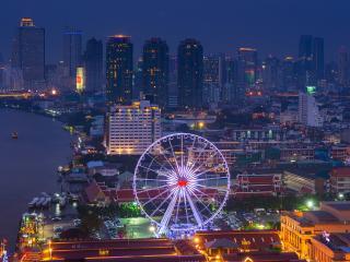 обои Жизнь ночного Бангкока фото