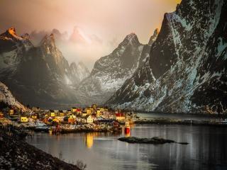 обои Городок в горах фото
