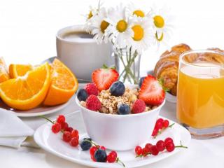 обои Завтрак с ромашками фото
