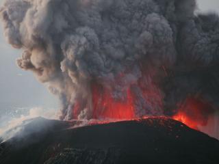 обои для рабочего стола: Сила извержения