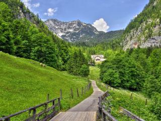 обои Дорожка к домику в долине фото