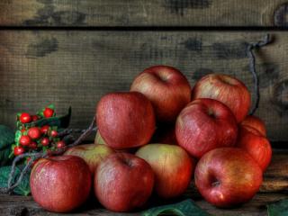 обои Горка красных яблок фото