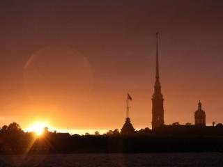 обои Закат в Санкт-Петербурге фото