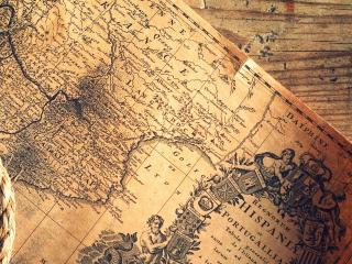 обои Старая карта Европы фото