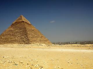 обои Одинокая великая пирамида фото