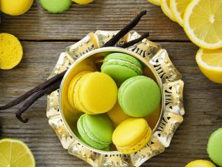 обои Цитрусовое печенье и фрукты фото