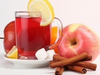 обои Яблочная вода с корицей фото