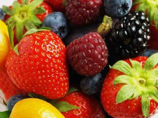 обои Ягодно-фруктовое ассорти фото