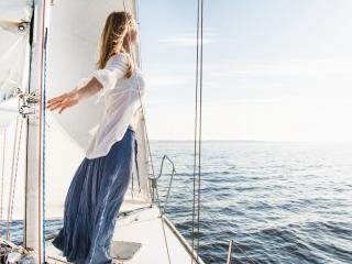 обои Ощущение свободы на яхте фото
