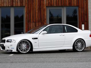 обои Белый BMW вид сбоку фото
