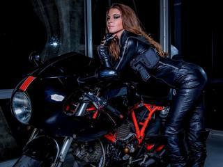 обои Супермодель и мотоцикл фото