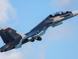 обои Взлет истребителя России фото